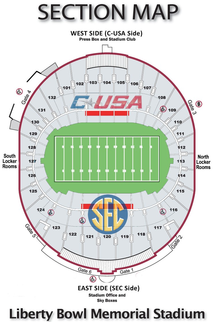 Liberty Bowl seating map